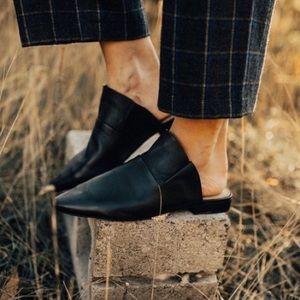 Free People / Sienna Slip On Black Mules EUC 7
